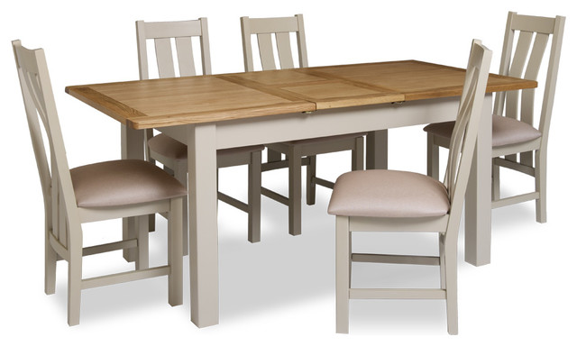 Lundy Stone Grey 140cm 180cm Table and 6 Chairs Country  : country dining table sets from www.houzz.co.uk size 640 x 384 jpeg 48kB