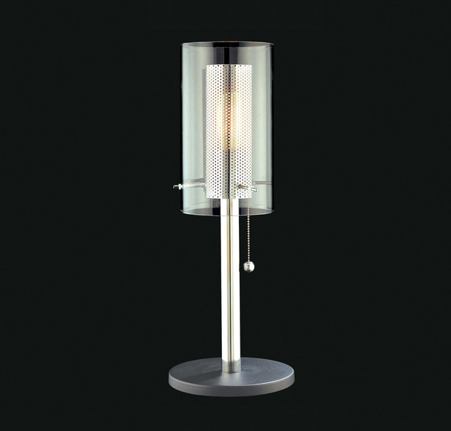 Sonneman Zylinder 22 5 Quot Table Lamp In Polished Chrome And