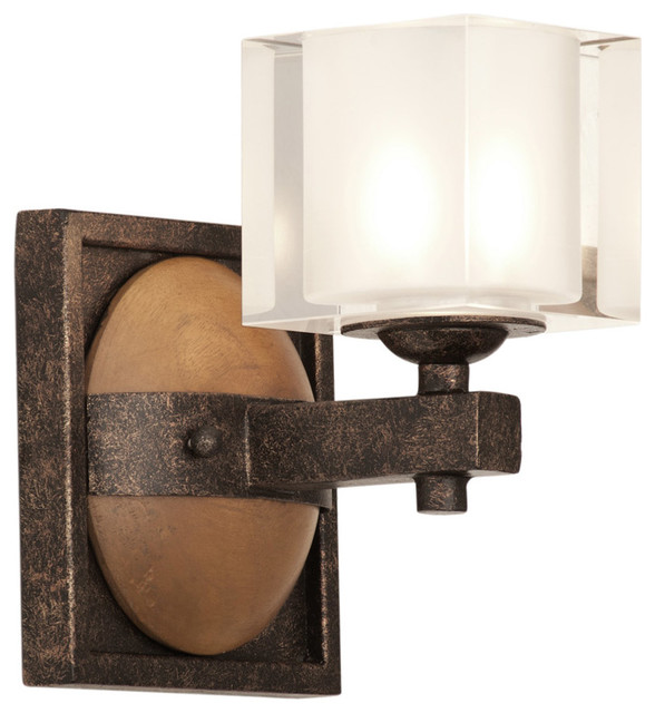 Kalco Lighting 2931FG Hampton 1 Light Bathroom Vanity Lights in Florence Gold - Transitional ...