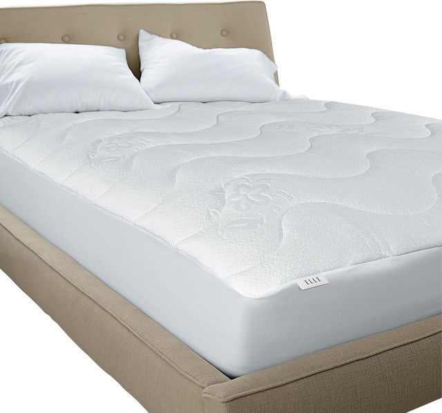 elle circular knit poly visco mattress pad full classic quilted mattress pad home amp kitchen