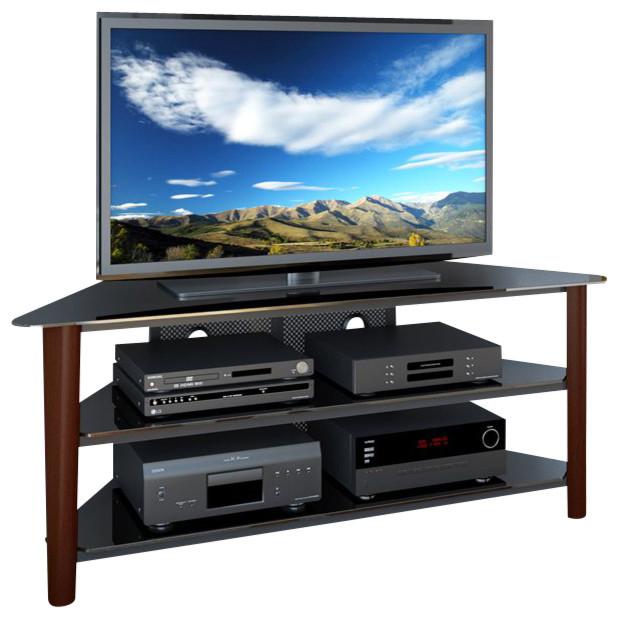 Corliving Alturas Dark Espresso Wood Veneer Tv Stand
