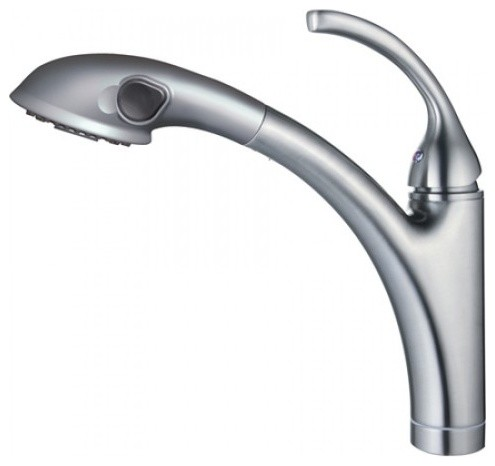 Single Handle Pull Out Kitchen Faucet With Pull Out Spout Sprayer Contempor