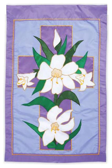 Garden Size Applique Flag Easter Morning Traditional