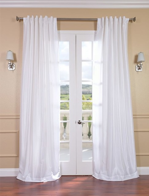 Ice Vintage Textured Faux Dupioni Silk Curtain ...