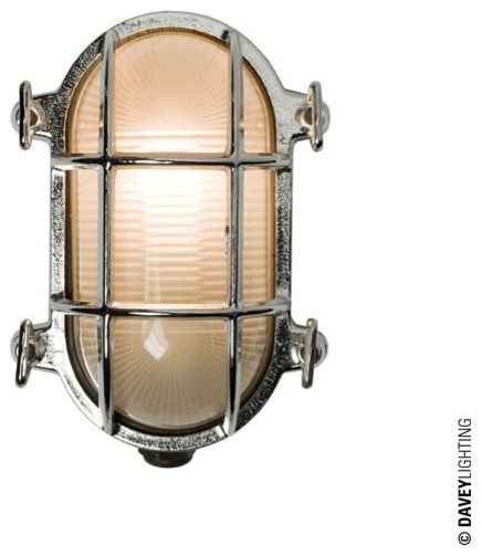 Exterior Wall Lights Industrial : Davey 7036 Oval Brass Bulkhead 40W Chrome Plated - Industrial - Outdoor Wall Lights - south east ...