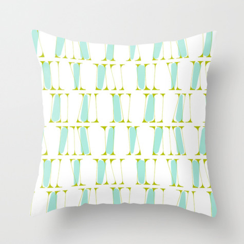 Zita Pop Mid Century Style Accent Throw Pillow - Midcentury - Scatter Cushions - portland maine ...