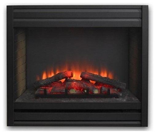 Louver Front For 34 Gallery Electric Led Built In Fireplace Contemporary Fireplace