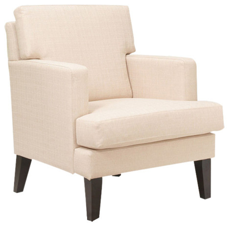 Tulsa Arm Chair, Cream - Transitional - Armchairs And ...