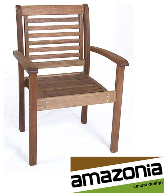 eucalyptus wood stackable chair contemporary outdoor lounge chairs by. Black Bedroom Furniture Sets. Home Design Ideas