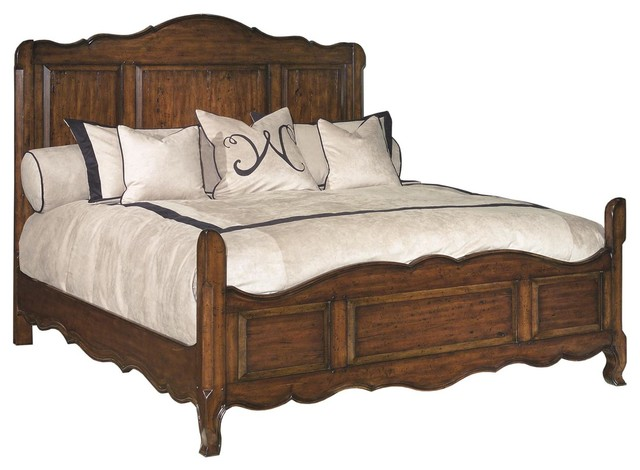 Classic French Look California King Size Solid Wood Bed