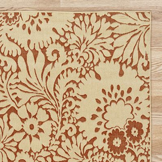 Red Lily Indoor Outdoor Rug Contemporary Outdoor Rugs
