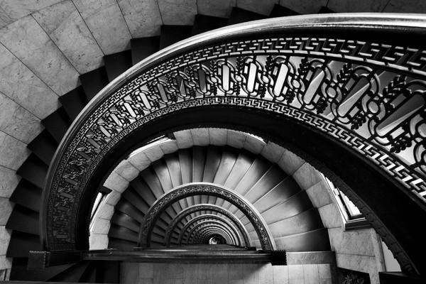Half Spiral Staircase Ii Modern Artwork By