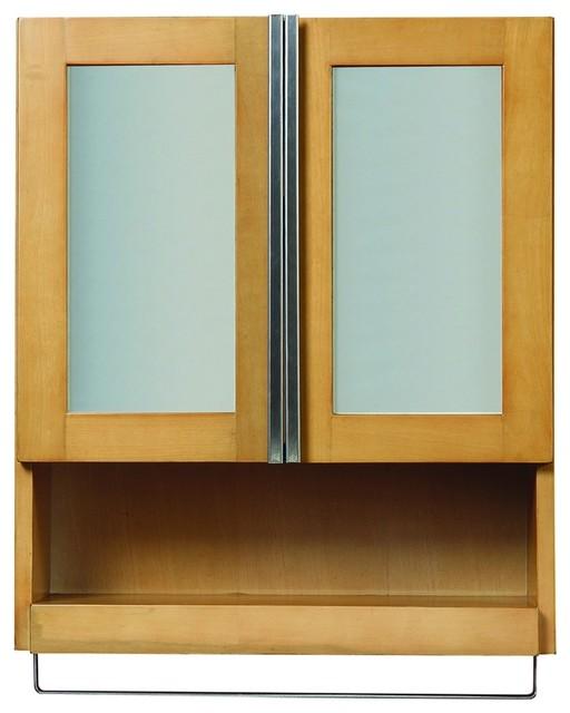 decolav 5248 mpl tyson wall cabinet in maple modern
