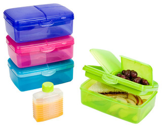Slimline Quaddie Lunchbox - Contemporary - Lunch Boxes And Totes - by ...