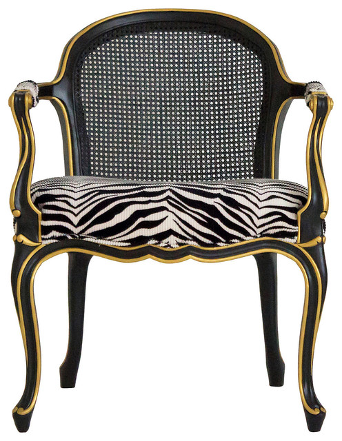 black gold cane back fauteuil contemporary armchairs and accent chairs by one kings lane. Black Bedroom Furniture Sets. Home Design Ideas