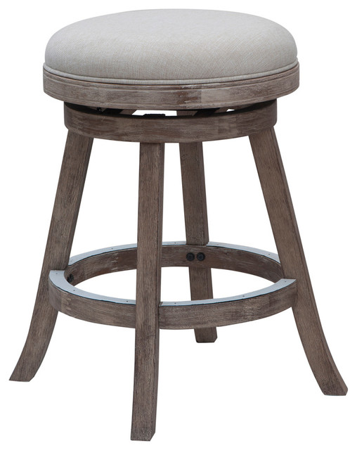Boraam Counter Stool With Driftwood Gray Finish In Ivory