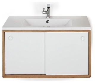Souligne meuble sous vasque de salle de bains 80cm r tro for Console lavabo salle de bain