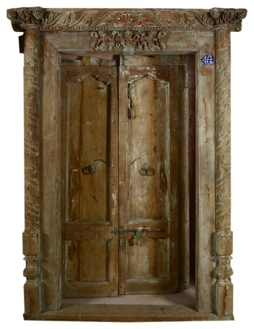 Classic beautiful hand carved antique style door traditional interior doors by sierra for Antique looking interior doors