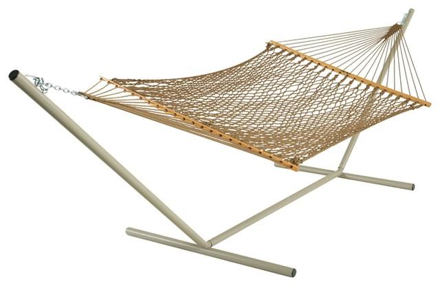 Pawleys island large original rope hammock beach style for Rope hammock plans