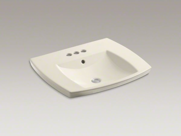 KOHLER Kelston R Drop In Bathroom Sink With 4 Centerset Faucet Holes