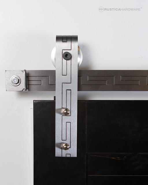 Texture Series Aztec Barn Door Hardware - Modern - Barn ...