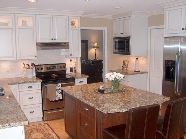 White Painted Wood Cabinets : Pics for gt white stained wood cabinets