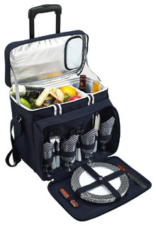 Bold Cooler with Removable Wheeled Cart for Four - Contemporary - Picnic Baskets - by ...