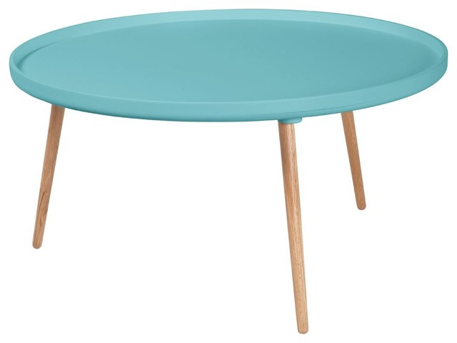 table basse ronde kompass 90 couleur turquoise scandinave table basse par. Black Bedroom Furniture Sets. Home Design Ideas