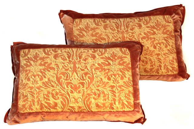 colorful bedroom pillows pair of vintage fortuny pillows in lucrezia