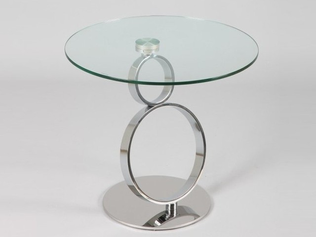 Bout de canap ring en verre contemporary side tables - Table bout de canape en verre design ...