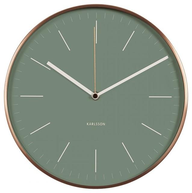 minimal wall clock green contemporary wall clocks