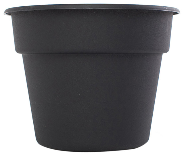 bloem patio lawn garden 10 quot dura cotta planter 24 pack black traditional outdoor pots and