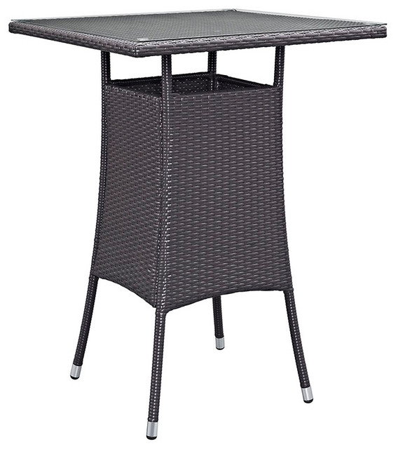 Small Outdoor Patio Bar Table Espresso Modern Outdoor Dining Tables