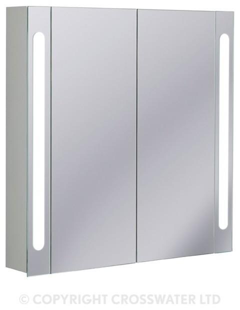 bauhaus 800 aluminium electric 80 mirror cabinet
