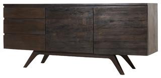 buffet en bois demanguier 180 moka kolonialstil. Black Bedroom Furniture Sets. Home Design Ideas