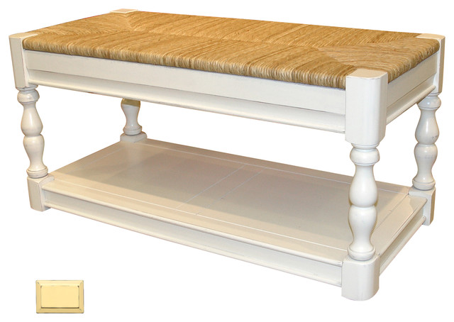 Cottage Newport Bench Yellow Beach Style Accent And