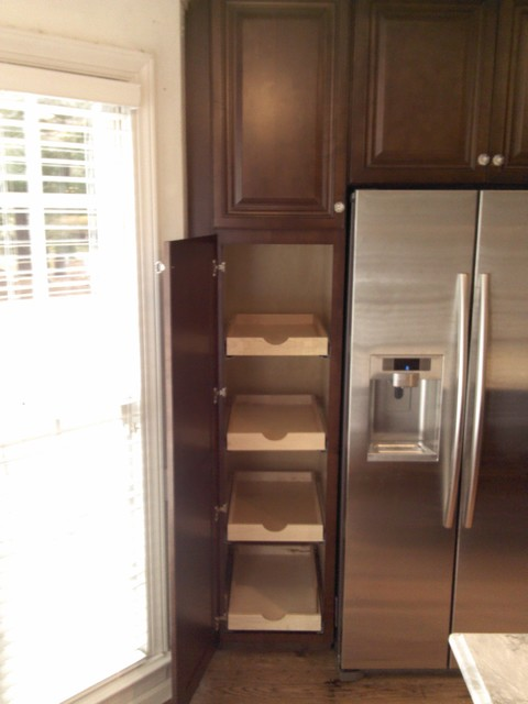 Kitchen Cabinet Replacement from Oak to Walnut stained Maple - Traditional - Kitchen - raleigh ...