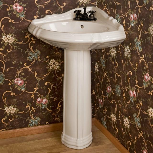 Traditional Bathroom Sink : Regent Corner Pedestal Sink - Traditional - Bathroom Sinks - by ...