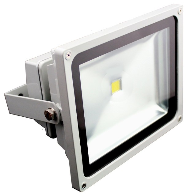 50W High Output Outdoor COB LED Flood Light 7000K Daylight - Contemporary - Outdoor Flood And ...