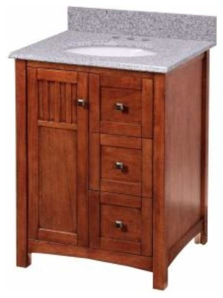 Foremost knoxville 24 inch vanity in nutmeg finish for Bathroom cabinets knoxville tn