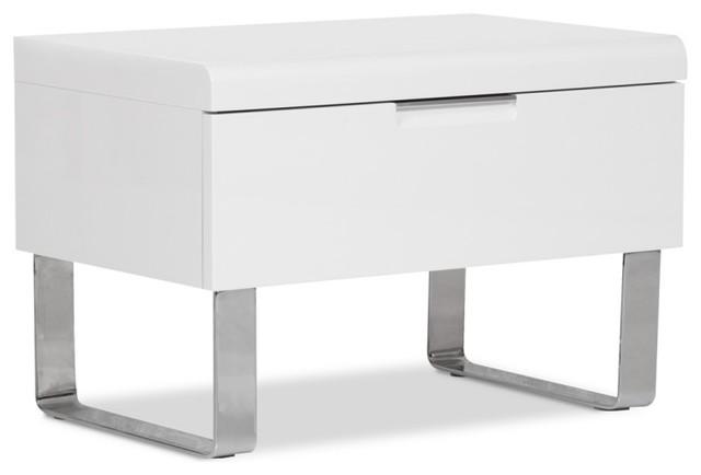nachttisch bianco iii wei moderno comodini di. Black Bedroom Furniture Sets. Home Design Ideas