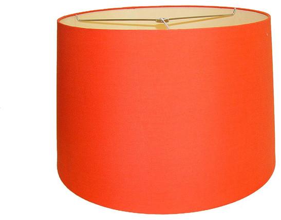 Orange round hardback lamp shade contemporain abat jour par for Abat jour contemporain