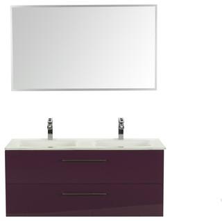 Luxy meuble de salle de bains pour 2 vasques 120cm for Console lavabo salle de bain