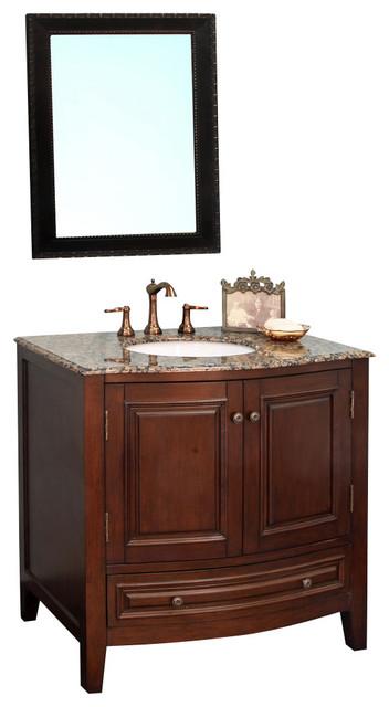 36 Bathroom Vanity Long Island Ny: 36 Inch Single Sink Vanity-Wood-Dark Walnut