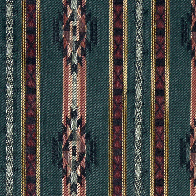 Striped Southwest Navajo Style Upholstery Fabric By The