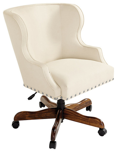 Ballard Designs Suzanne Kasler Carson Desk Chair With Pewter Nailheads Cont
