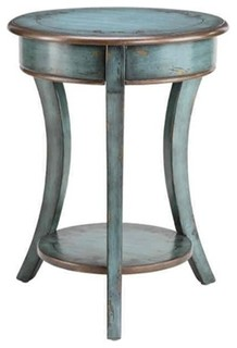 Stein World Freya Round Accent Table, Turquoise/Bronze - Distressed - Shabby chic - Side Tables ...