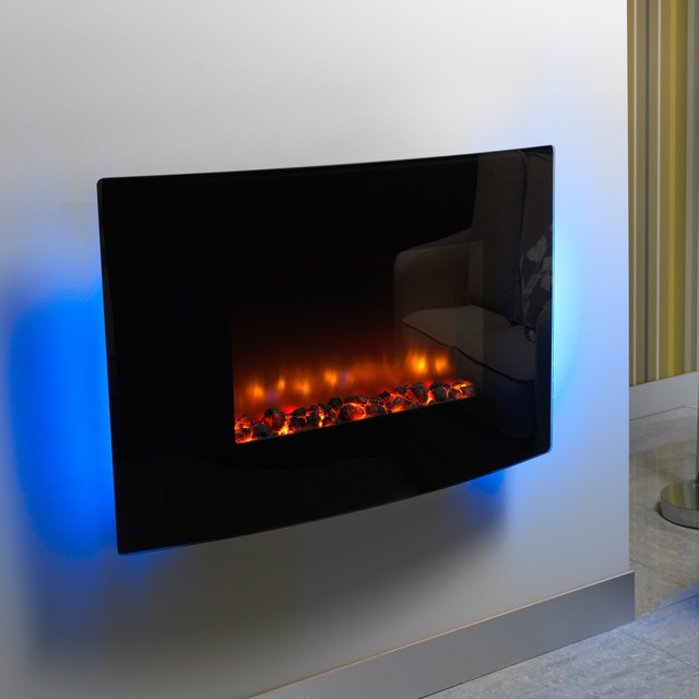 Wall Hanging Electric Fireplace using modern indoor electric fireplaces
