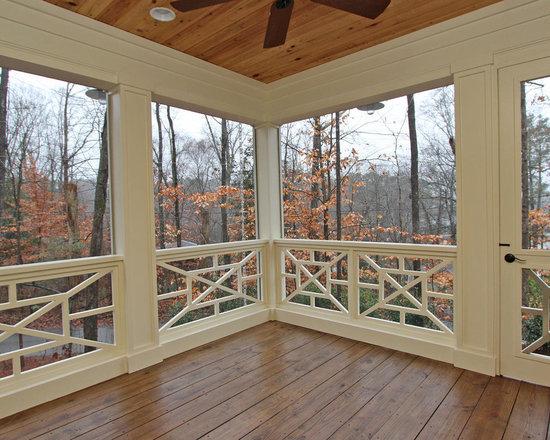 Craftsman screened porch flooring home design photos for Craftsman style screened porch