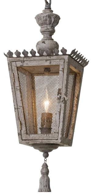 rudolph french country tassel gold carved wood lantern